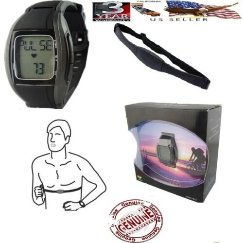 Fitness Heart Rate calorie Monitor Watch With Wireless Chest Strap pulse in Sporting Goods, Exercise & Fitness, Gym, Workout & Yoga | eBay