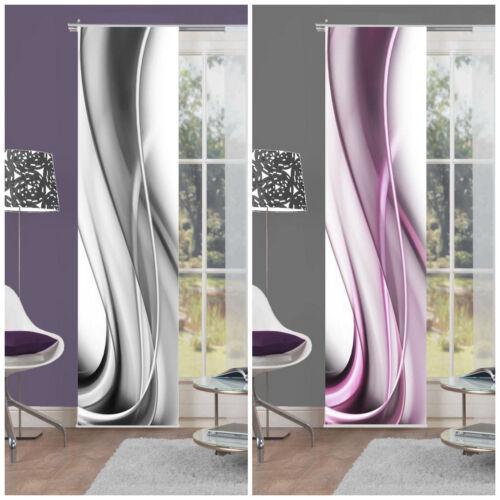 fl chenvorhang schiebevorhang digital bedruckt 60x245 onda beere o grau abstrakt ebay. Black Bedroom Furniture Sets. Home Design Ideas