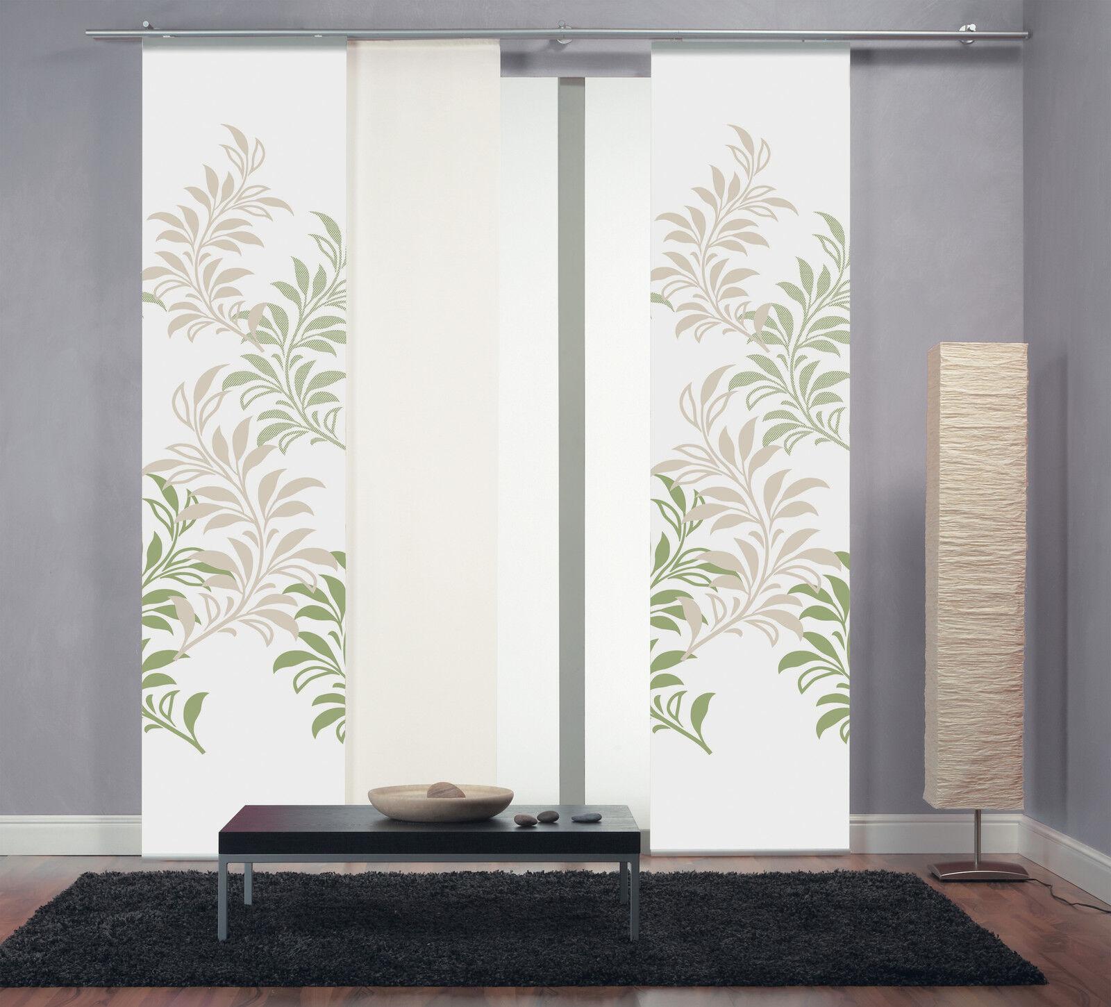 fl chenvorhang schiebevorhang digital bedruckt ste gr n gr 60x260cm limbo 232 ebay. Black Bedroom Furniture Sets. Home Design Ideas