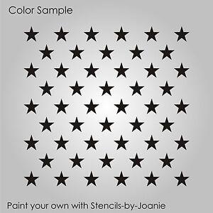 8x10 50 stars template
