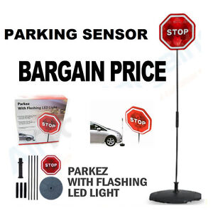 flashing light up sensor stop sign car parking assist aid. Black Bedroom Furniture Sets. Home Design Ideas