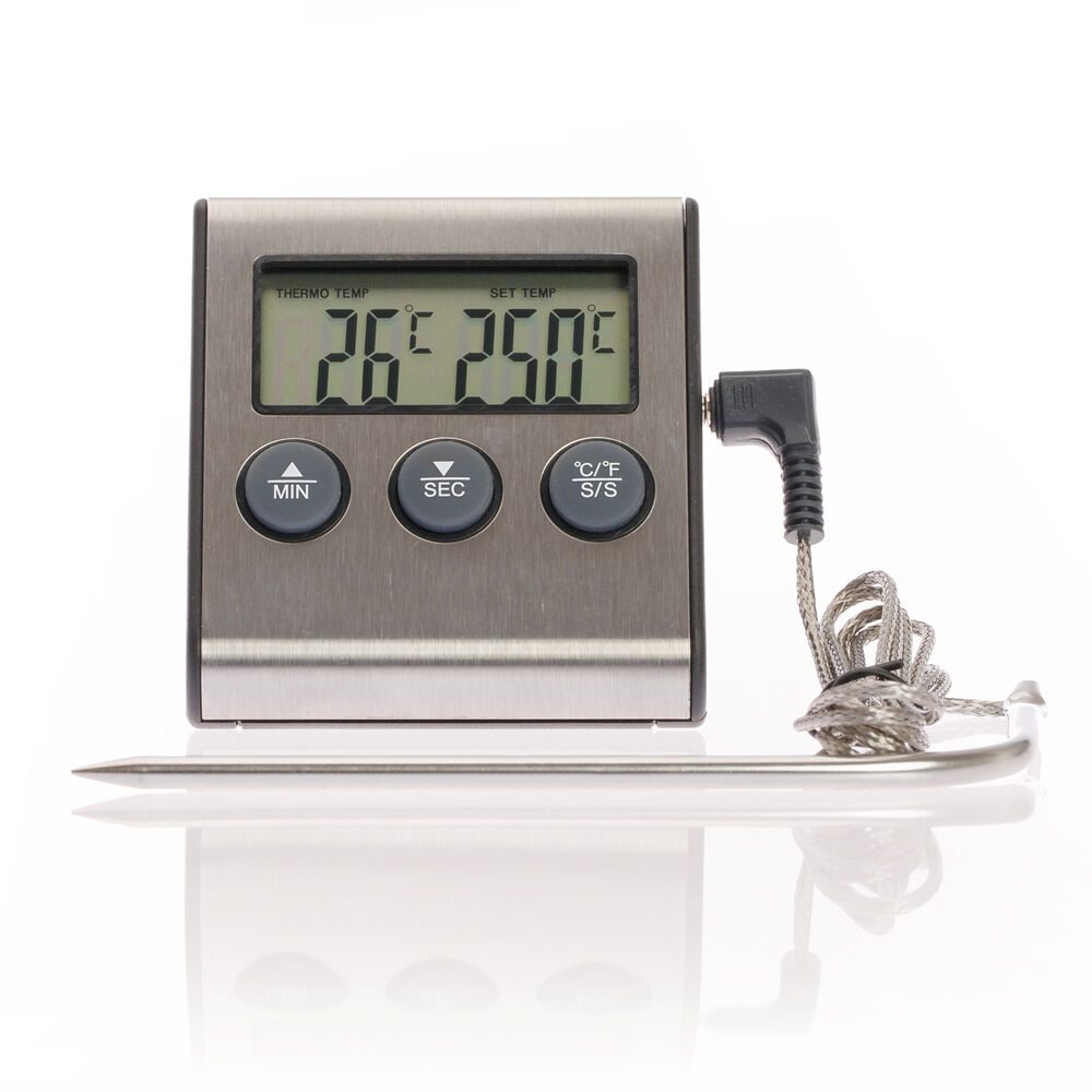 Fleischthermometer Backofenthermometer Backofen Grill Thermometer Digital Küche