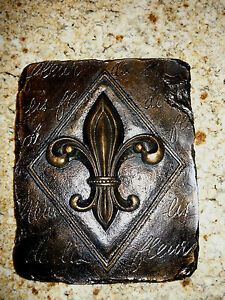 Fleur de lis wall plaque tuscan old world medieval new orleans decor cross cr - Plaque de decoration ...
