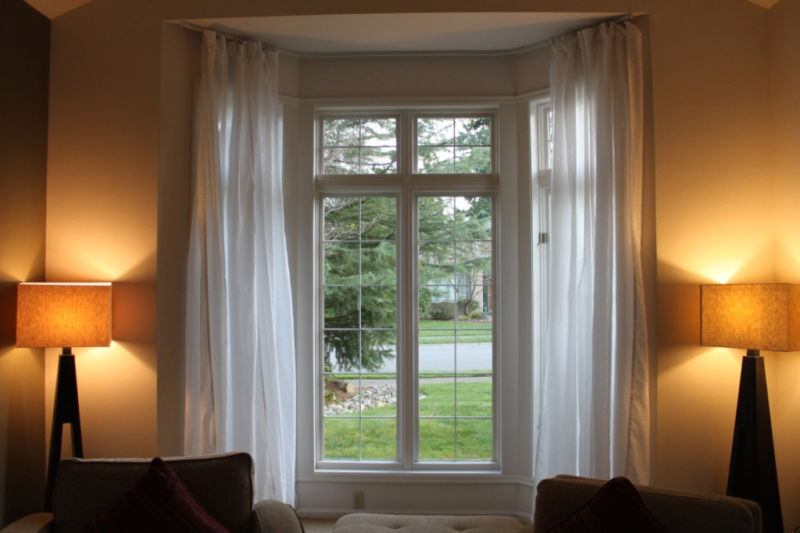 Bay Window: Bendable Curtain Rods For Bay Windows