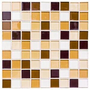 fliesensticker mosaik braun beige fliesenaufkleber 10x10 On fliesensticker 10x10