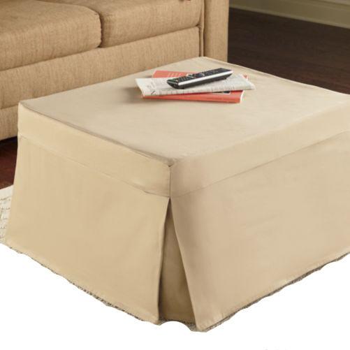 Folding Ottoman Guest Bed Sleeper With Mattress Amp Beige