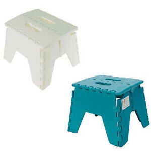 folding step stool plastic heavy duty foldable non slip grip home office kitchen ebay. Black Bedroom Furniture Sets. Home Design Ideas