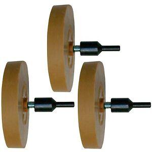 Folienradierer-3-x-Radierscheibe-Radiergummi-mit-Adapter-f-Autolack-Zierstreifen