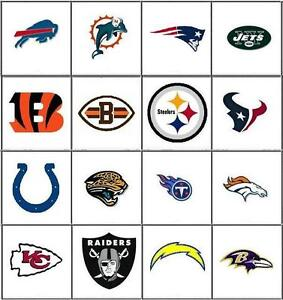 Football Nail Decals Set Of 20 Choose From 16 Designs Ebay