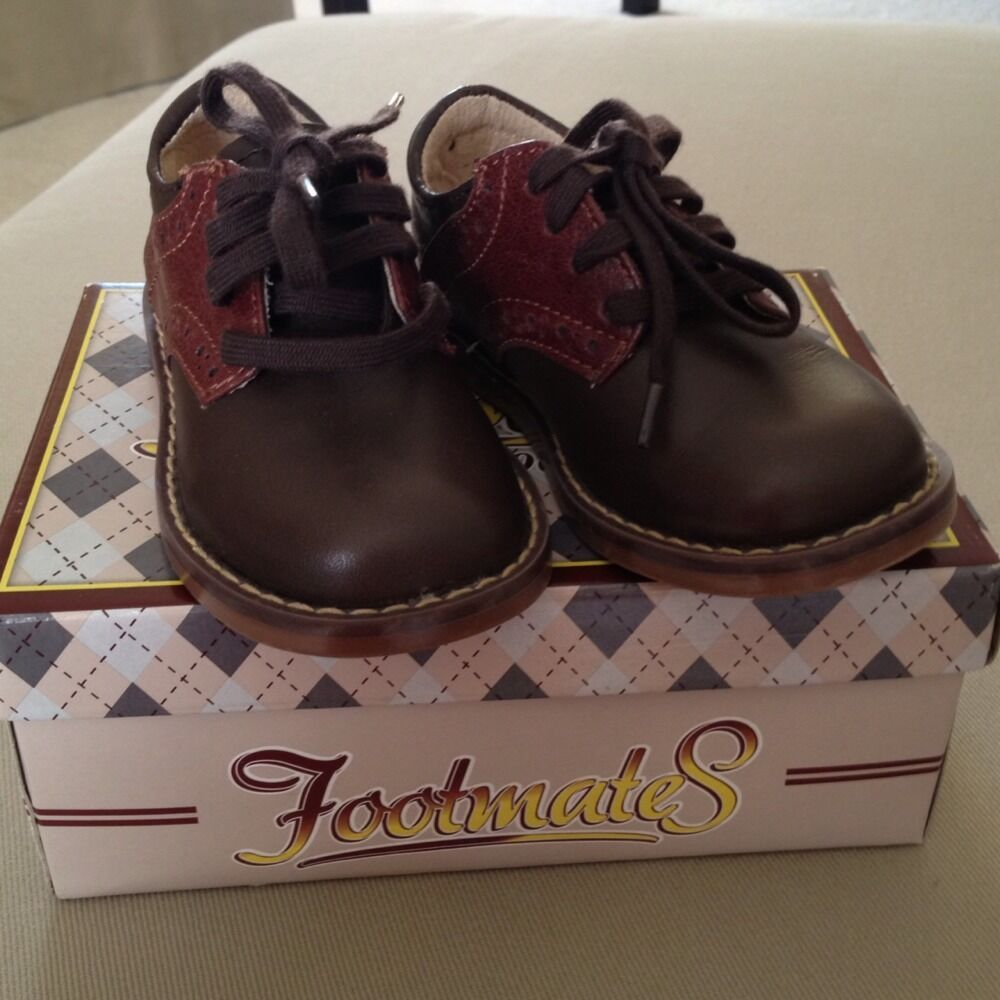 Footmates Toddler Boy Dress Shoes Size 5 5 W Brown Saddle ...
