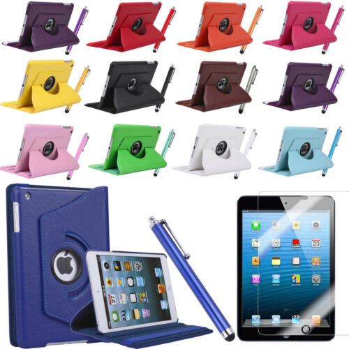 For Apple iPad Mini NEW 360 Degree Rotating PU Leather Case Cover w Swivel Stand in Computers/Tablets & Networking, iPad/Tablet/eBook Accessories, Cases, Covers, Keyboard Folios | eBay