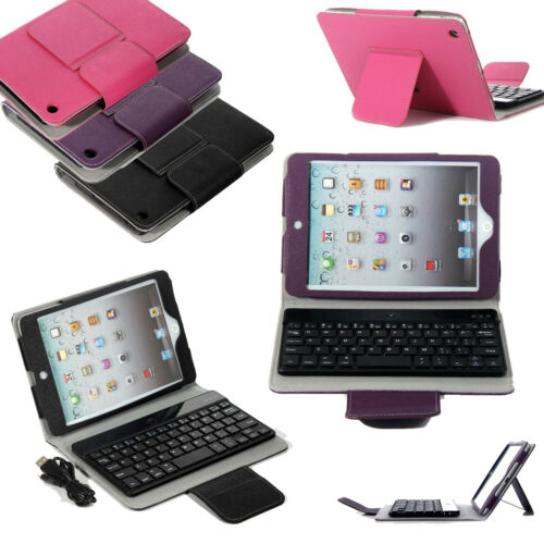 For Apple iPad Mini Stand Leather Case Cover With Removable Bluetooth Keyboard in Computers/Tablets & Networking, iPad/Tablet/eBook Accessories, Cases, Covers, Keyboard Folios | eBay