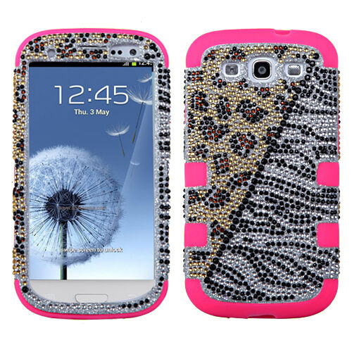 For Samsung Galaxy S III 3 BLING IMPACT TUFF HYBRID Hard Case Phone Cover Hottie