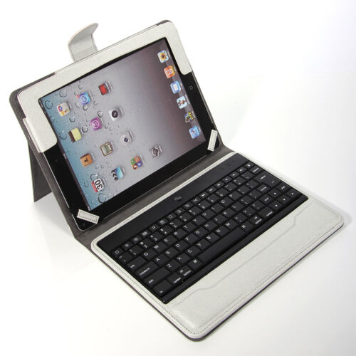 For iPad 2 New 3 3rd Gen Sliver Stand Leather Case Cover With Bluetooth Keyboard in Computers/Tablets & Networking, iPad/Tablet/eBook Accessories, Cases, Covers, Keyboard Folios | eBay