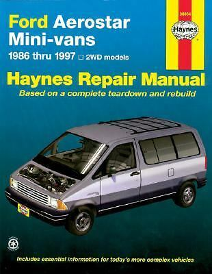 Ford Aerostar Mini Vans, 1986 1997 by John Haynes, Mark Christman and