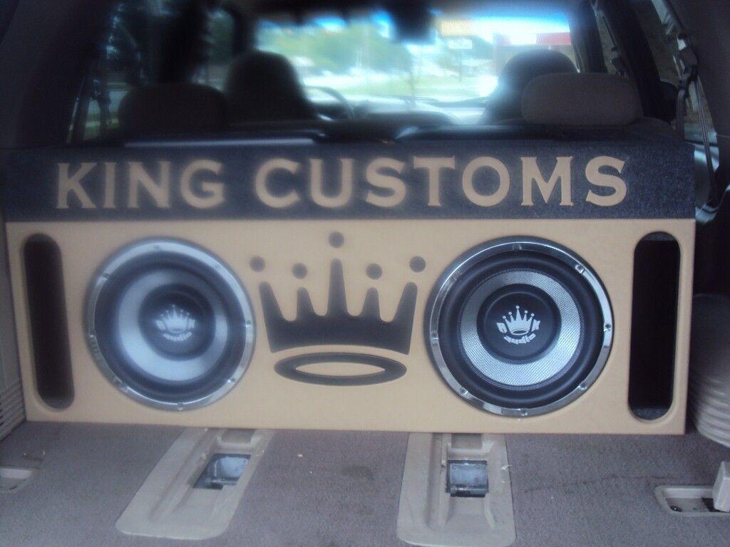 Ford Expedition 12 Speaker Box w Amprack Custom Letters Subwoofer Enclosure