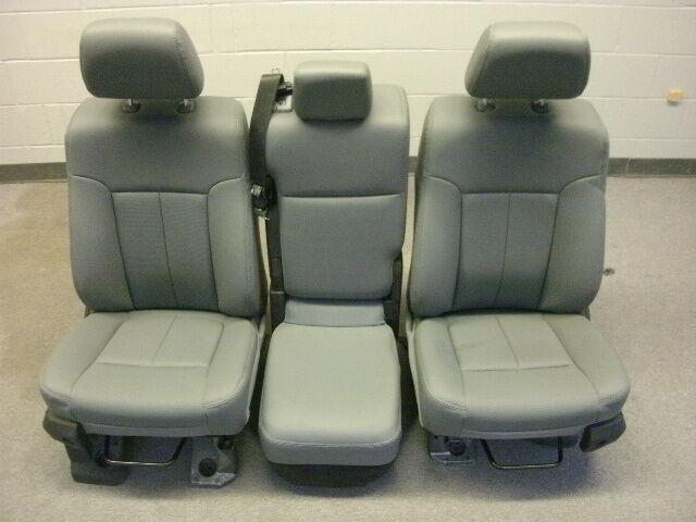Ford F 550 Super Duty gray vinyl seats center console F 250 350 450 99