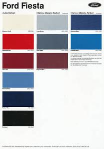 ford fiesta farben polster prospekt 30 colors ebay. Black Bedroom Furniture Sets. Home Design Ideas
