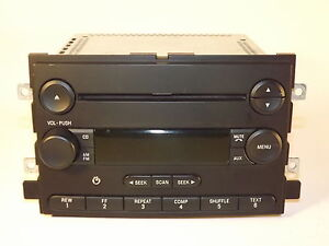 Ford Freestyle Mustang Five Hundred Am Fm Cd Radio W Aux