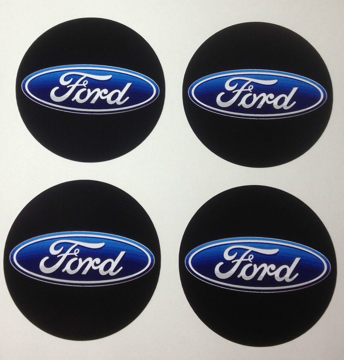 Ford Wheel Center Cap Decals Stickers Qty 4