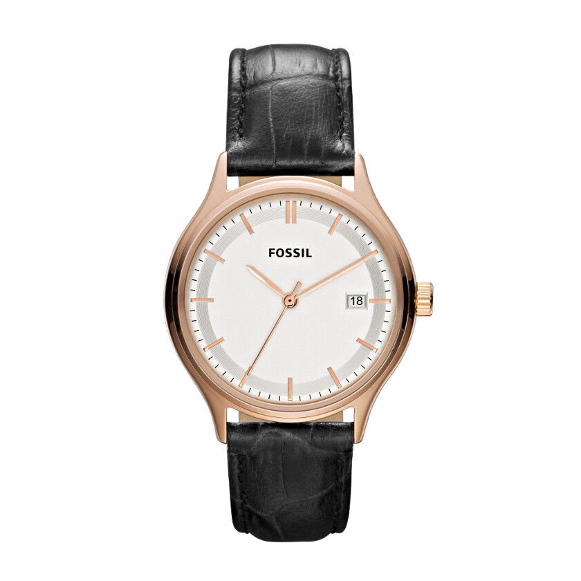 fossil womens archival leather black es3164 ebay