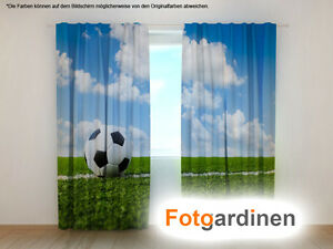 fotogardinen fu ball vorhang 3d fotodruck fotovorhang. Black Bedroom Furniture Sets. Home Design Ideas