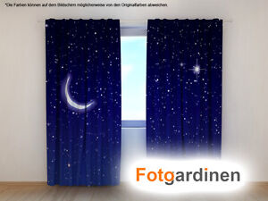 fotogardinen nacht vorhang mit motiv 3d fotodruck. Black Bedroom Furniture Sets. Home Design Ideas