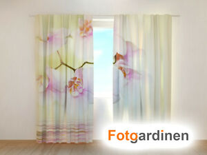 fotogardinen orchidee vorhang 3d fotodruck fotovorhang. Black Bedroom Furniture Sets. Home Design Ideas