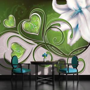 fototapete fototapeten tapete tapeten foto wandbild bild gr ne herzen 705 p8 ebay. Black Bedroom Furniture Sets. Home Design Ideas