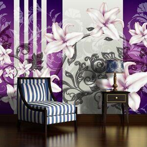 fototapete fototapeten tapeten poster foto poster natur blumen lila 3fx1203ve ebay. Black Bedroom Furniture Sets. Home Design Ideas