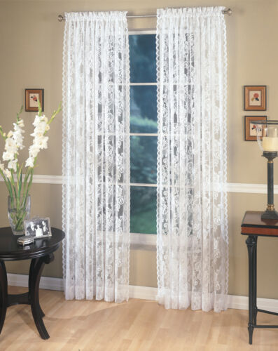 """Four (4) Lace Panels, each 60""""x84"""" White in Home & Garden, Window Treatments & Hardware, Curtains, Drapes & Valances 