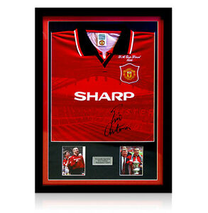 Framed-Manchester-United-Shirt-Signed-by-Eric-Cantona
