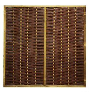 Wilgenscherm in houten frame