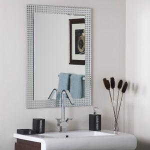 Frameless Bathroom Mirrors on Frameless Bathroom Disco Wall Mirror Hall Designer   Ebay