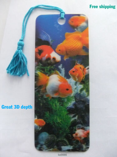 Free shipping Lenticular 3D bookmark Animail goldfish great 3D depth 152*58mm in Books, Accessories, Bookmarks | eBay