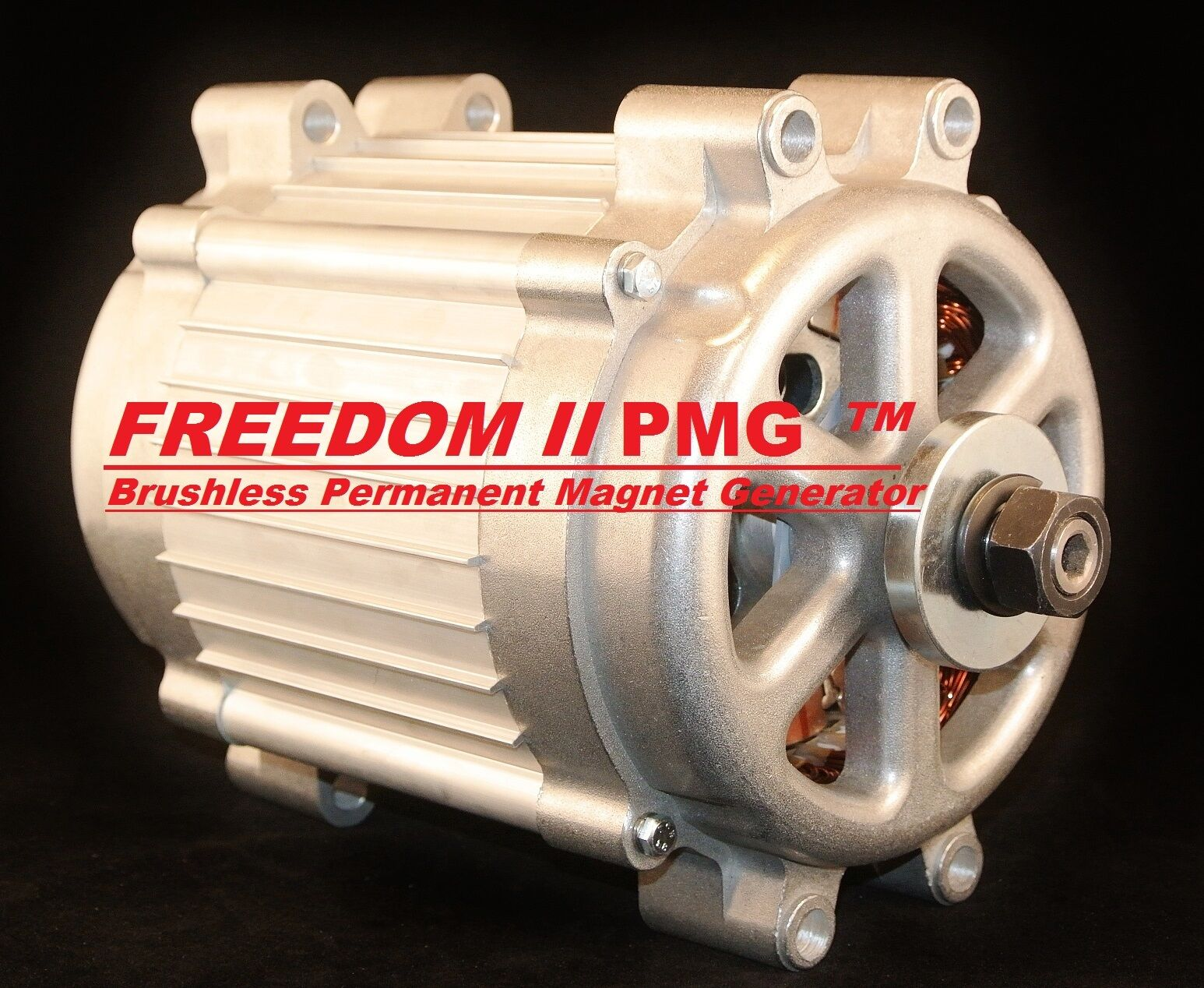 Missouri freedom ii 12 24 volt 2000 watt max 11 blade wind for Permanent magnet motor generator sale