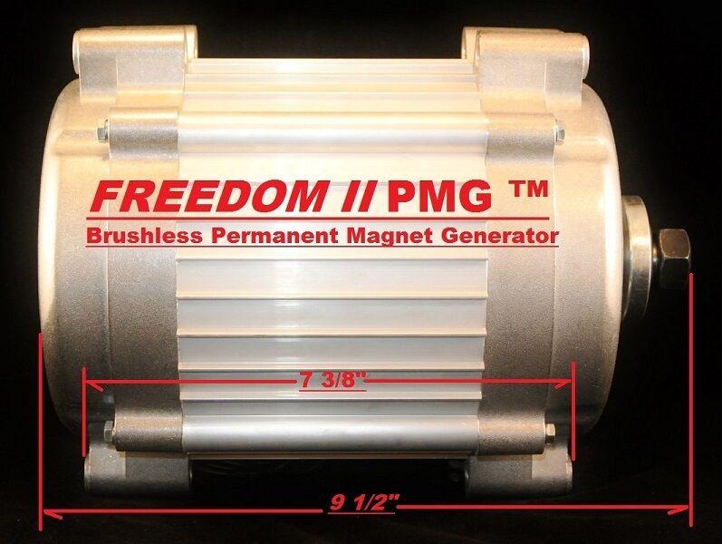 Freedom ii pmg 24 48 volt permanent magnet generator wind for Permanent magnet motor generator sale