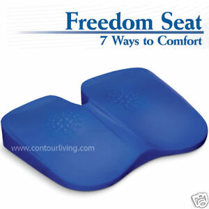 Freedom Seat Office Chair Cushion Orthopedic Foam Pad Improve Posture Coccyx