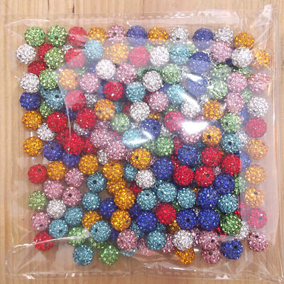 Freeshipping 10mm Mix Color 100 PC Cz Crystal Disco Ball Shamballa Beads gift in Crafts, Beads & Jewelry Making, Beads, Pearls & Charms | eBay