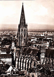 Freiburg-i-Br-Muenster-1964-gelaufene-AK