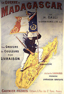 French-Empire-in-Madagascar-Africa-La-Guerre-1895-Repro-Art-Print-7x5-inches