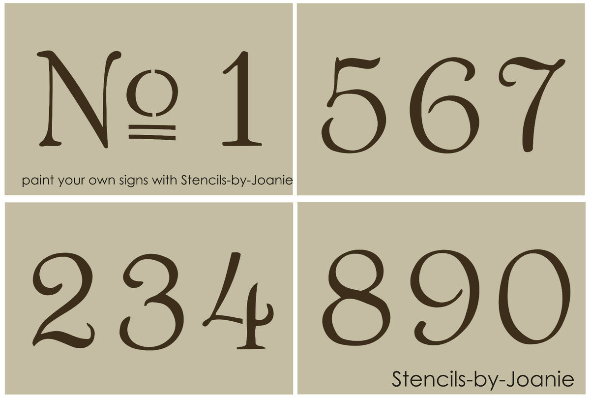 French old vintage style number stencil 3 paris chic for Classic house number fonts