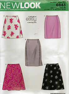from uk sewing pattern a line skirt 8 18 6843 ebay