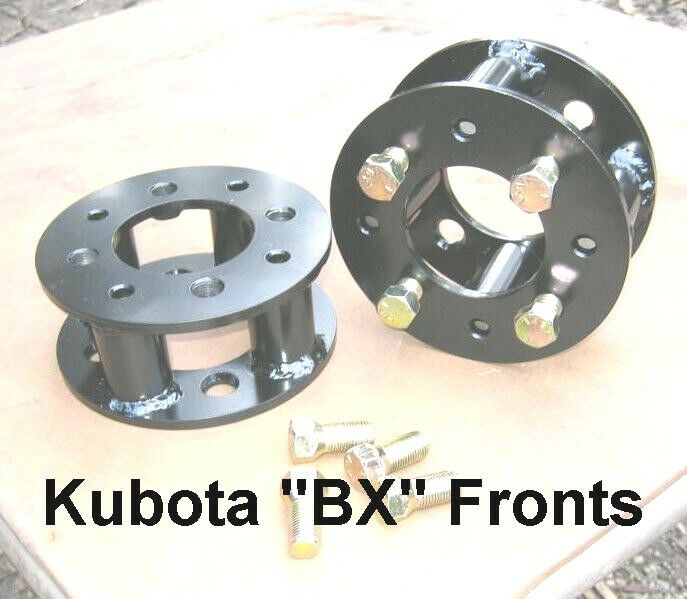Tractor Wheel Bolt Patterns : Front wheel spacers kubota bx series compact utility