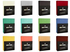frottee spannbetttuch spannbettlaken baumwolle sch ne farben 120x200 200x220 ebay. Black Bedroom Furniture Sets. Home Design Ideas
