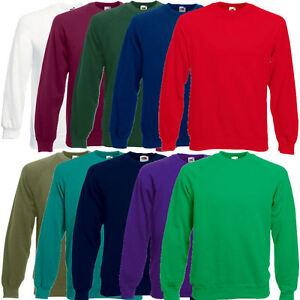 Fruit-of-the-Loom-Herren-Sweatshirt-Raglan-Pullover-Sweat-S-M-L-XL-XXL