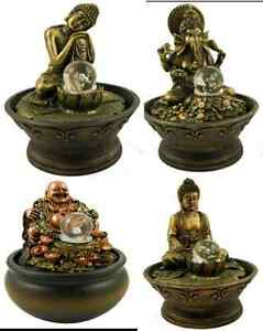 f r drinnen thai buddha wasserspiel lachende buddha pumpe farbig led licht ebay. Black Bedroom Furniture Sets. Home Design Ideas