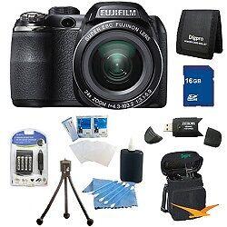 Fujifilm FinePix S4200 24x Optical Zoom 14 MP 3 inch LCD Digital Camera 16 GB Bu in Cameras & Photo, Digital Cameras   eBay