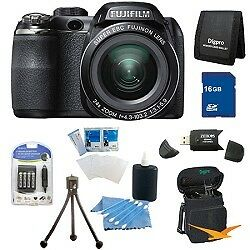 Fujifilm FinePix S4200 24x Optical Zoom 14 MP 3 inch LCD Digital Camera 16 GB Bu in Cameras & Photo, Digital Cameras | eBay