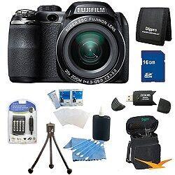 Fujifilm FinePix S4500 30x Optical Zoom 14 MP 3 inch LCD Digital Camera 16 GB Bu in Cameras & Photo, Digital Cameras   eBay